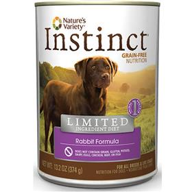 Natures Variety Instinct LID Rabbit Canned Dog Food