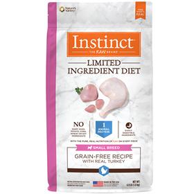 Natures Variety Instinct Limited Ingredient Diet Small Breed Grain Free Recipe with Real Turkey