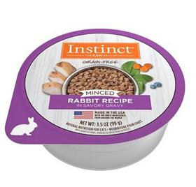 Natures Variety Instinct Minced Rabbit Recipe Wet Cat Food