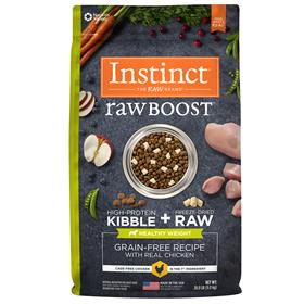 Natures Variety Instinct Raw Boost Healthy Weight Grain Free Recipe with Real Chicken