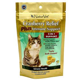 NaturVet Cranberry Relief 2-in-1 Cat Soft Chews