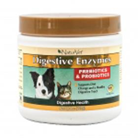NaturVet Digestive Enzymes with Prebiotics and Probiotics