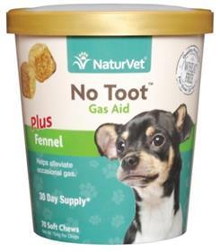 NaturVet No Toot Gas Aid Soft Chews for Dogs