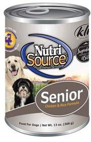NutriSource Chicken and Rice Senior Dog Food Can