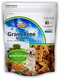 NutriSource Grain Free Great Lakes White Fish Biscuit