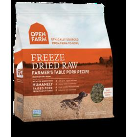Open Farm Freeze Dried Raw Dog Food Farmers Table Pork Recipe