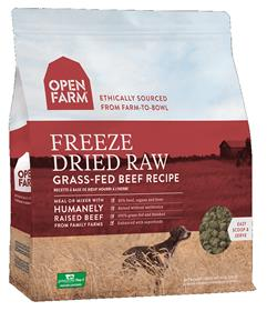 Open Farm Freeze Dried Raw Dog Food Grass Fed Beef Recipe
