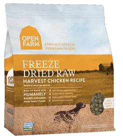 Open Farm Freeze Dried Raw Dog Food Harvest Chicken Recipe