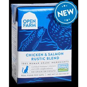 Open Farm Grain Free Chicken Salmon Recipe Rustic Blend Wet Cat Food