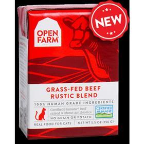 Open Farm Grain Free Grass Fed Beef Recipe Rustic Blend Wet Cat Food