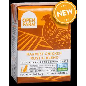 Open Farm Grain Free Harvest Chicken Recipe Rustic Blend Wet Cat Food