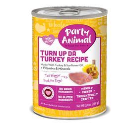 Party Animal Turn up da Turkey Grain Free Canned Dog Food