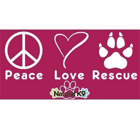 Peace Love Rescue Bumper Sticker