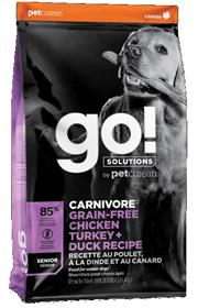 Petcurean GO Solutions Carnivore Grain Free Chicken Turkey Duck Senior Recipe