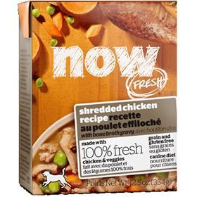 Petcurean Now Fresh Grain Free Shredded Chicken Recipe with Bone Broth Gravy