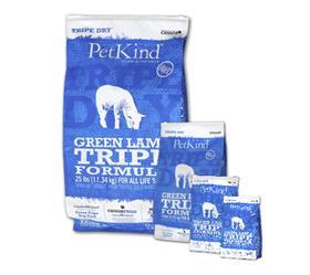 Petkind Green Lamb Tripe Dry Dog Food