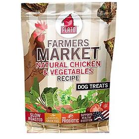 Plato Farmers Market Chicken Vegetables Grain Free Dog Treats