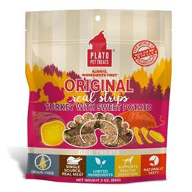 Plato Original Real Strips Turkey Sweet Potato Dog Treats