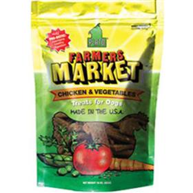 Plato Pet Treats Farmers Market Chicken and Vegetable Strips