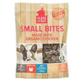 Platos Farmers Market Small Bites Organic Chicken Dog Treats