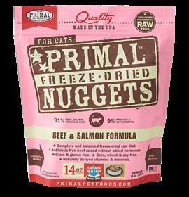 Primal Freeze Dried Feline Beef and Salmon Formula