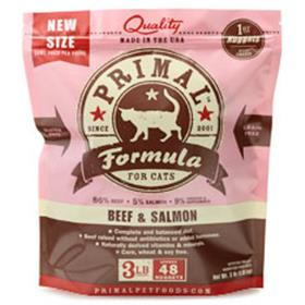 Primal Frozen Feline Beef and Salmon Formula