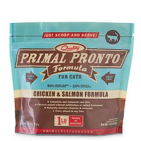 Primal Frozen Feline Chicken and Salmon Pronto Formula