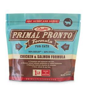 Primal Frozen Feline Chicken and Salmon Pronto Formula