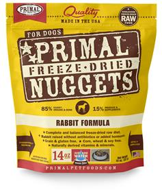 Primal Rabbit Formula Nuggets Grain Free Freeze Dried Dog Food