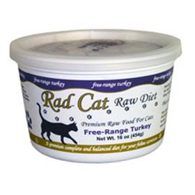 Rad Cat Raw Free Range Turkey Cat Food