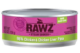 Rawz Cat Chicken and Chicken Liver Can