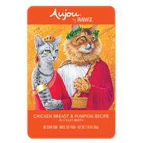 Rawz Cat Pouch Grain Free Aujou Chicken Breast and Pumpkin
