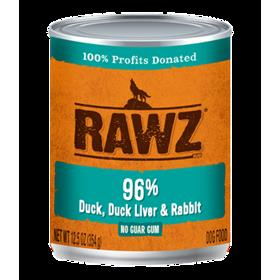 Rawz Dog Can Duck and Duck Liver and Rabbit Pate