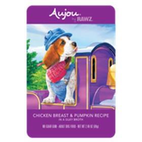 Rawz Dog Pouch Grain Free Aujou Chicken and Pumpkin