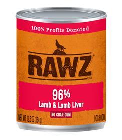 Rawz Lamb and Lamb Liver Dog Food Can