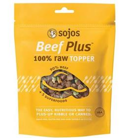 Sojos Beef Plus Raw Grain Free Dog Food Topper