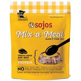 Sojos Dog Mix A Meal Freeze dried Beef