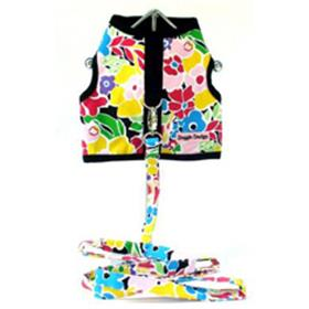 Solid Flower Print Harness with Leash
