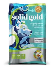 Solid Gold Leaping Waters with Salmon