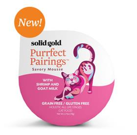 Solid Gold Purrfect Pairings With Shrimp and Goat Milk