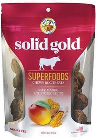 Solid Gold Superfoods Beef Mango Turmeric Chewy Dog Treats