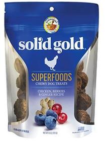 Solid Gold Superfoods Chicken Berries Ginger Chewy Dog Treats