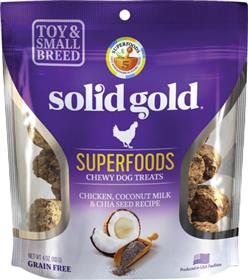 Solid Gold Superfoods Chicken Chia Seed Coconut Milk Small Breed Chewy Dog Treats