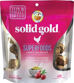 Solid Gold Superfoods Chicken Cranberry Chamomile Small Breed Chewy Dog Treats