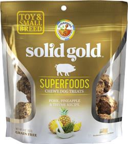 Solid Gold Superfoods Pork Pineapple Thyme Chewy Dog Treats