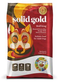 Solid Gold Wolf King With Bison