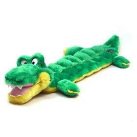 Squeaker Mat Long Body Gator Dog Toy