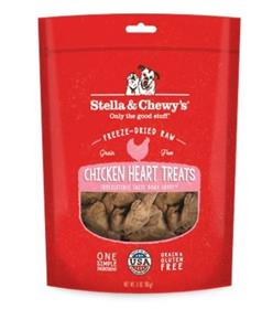 Stella  Chewys Chicken Hearts Freeze Dried Raw Dog Treats