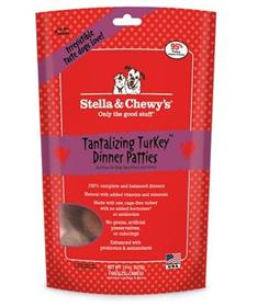 Stella and Chewy Freeze Dried Tantalizing Turkey Dinner Patties Dog Food