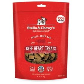 Stella and Chewys Beef Heart Freeze Dried Raw Dog Treats